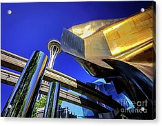 Seattle Center Art Acrylic Print by Joan McCool