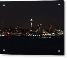 Seattle City Lights Acrylic Print by Kyle Wood