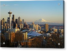 Seattle Cityscape Acrylic Print by Greg Vaughn - Printscapes