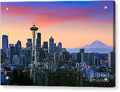 Seattle Waking Up Acrylic Print