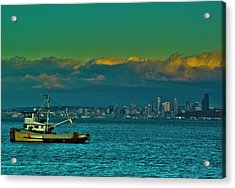 Seattle Evening Acrylic Print by Dale Stillman
