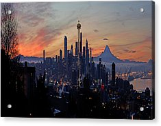 Seattle Fantasia A073 Acrylic Print by Yoshiki Nakamura