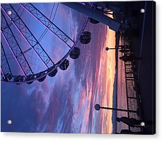 Seattle Ferris Wheel Acrylic Print
