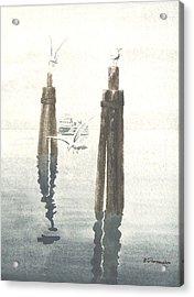 Seattle Ferry Acrylic Print by Robert Thomaston