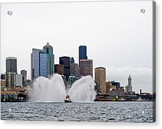 Seattle Fire Boat Acrylic Print by Tom Dowd
