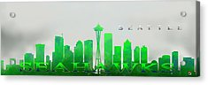 Seattle Greens Acrylic Print