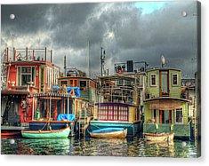 Seattle Houseboats Fine Art Photograph Acrylic Print
