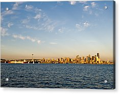 Seattle Landscape Acrylic Print by Tom Dowd