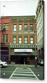 Seattle - Merchants Cafe Acrylic Print by Frank Romeo