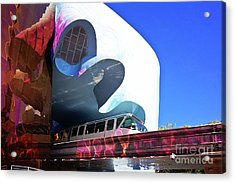 Seattle Monorail  Acrylic Print by Joan McCool