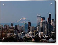 Seattle-mt. Rainier In The Morning Light .1 Acrylic Print