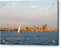Seattle Puget Sound Acrylic Print by Tom Dowd