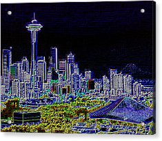 Seattle Quintessence Acrylic Print by Tim Allen