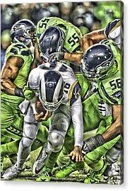 Seattle Seahawks Team Art 1 Acrylic Print