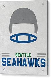 Seattle Seahawks Vintage Art Acrylic Print