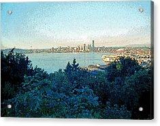 Seattle Skyline 2 Acrylic Print by Steve Ohlsen
