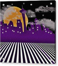Acrylic Print featuring the digital art Seattle Skyline by Digital Art Cafe