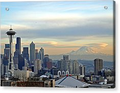 Seattle Skyline Acrylic Print by Matthew Adair
