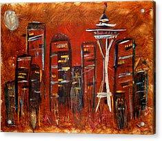 Seattle Skyline Acrylic Print by Melisa Meyers