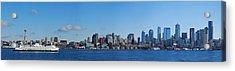 Seattle Skyline Panorama Acrylic Print by Twenty Two North Photography
