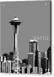 Seattle Skyline Space Needle - Pewter Acrylic Print by DB Artist
