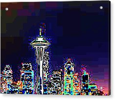 Seattle Skyline Acrylic Print by Tim Allen
