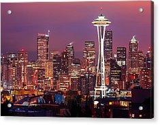 Seattle Skyline Acrylic Print by Todd Klassy