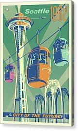 Seattle Space Needle 1962 - Alternate Acrylic Print