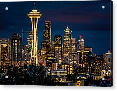 Seattle Space Needle After Dark Acrylic Print