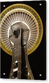 Seattle Space Needle At Night Acrylic Print by Davida Parker
