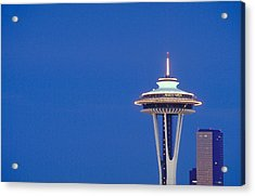 Seattle Space Needle Acrylic Print by Greg  West
