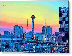 Seattle Space Needle Acrylic Print by RJ Aguilar