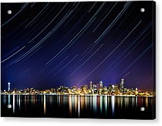 Seattle Stars Acrylic Print by Victor Dallons