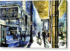 Acrylic Print featuring the photograph Seattle Streets #2 by Susan Parish