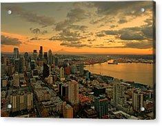 Seattle Sunset Acrylic Print