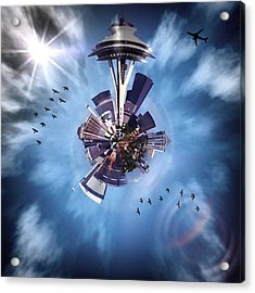 Seattle #tinyworld #spaceneedle Acrylic Print