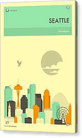 Seattle Travel Poster Acrylic Print