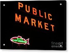 Seattles Public Market Acrylic Print by Robert Torkomian
