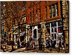 Seattle's Underground Tour Acrylic Print by David Patterson