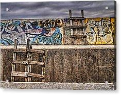 Seawall Acrylic Print by Ryan Wyckoff