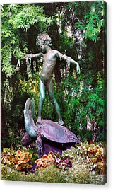 Seaweed Girl Acrylic Print by Bill Cannon