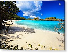 Secluded  Beach Acrylic Print by George Oze