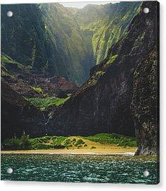 Secluded Kalalau Beach Acrylic Print