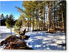 Secluded Moose River View Acrylic Print by David Patterson
