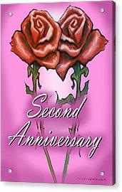 Second Anniversary Acrylic Print