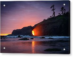 Second Beach Light Shaft Acrylic Print