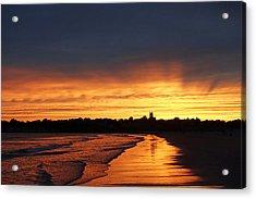 Second Beach Newport Ri Sunrays Acrylic Print