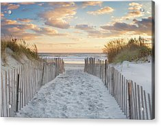 Second Beach Sunset Acrylic Print