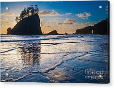 Second Beach Waves Acrylic Print by Inge Johnsson