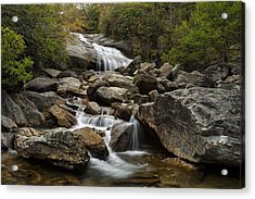 Second Falls - Blue Ridge Falls Acrylic Print by Andrew Soundarajan